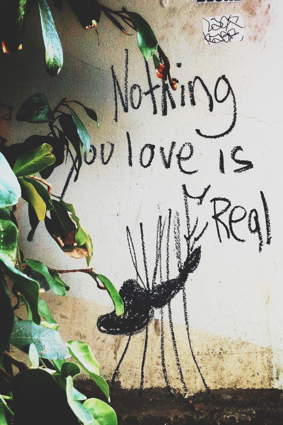 Nothing you love is real